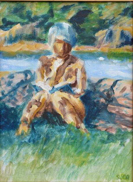 Helena läser, akryl, 2008, privat ägo