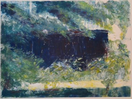 Trädgårdshuset, monotypi, 2009