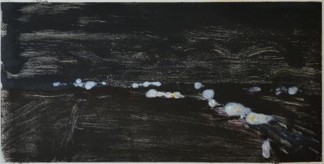 Kvällsväg, monotypi, 2009