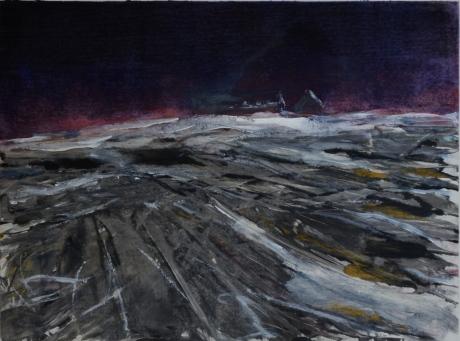 Vinter på slätten, monotypi, 2010
