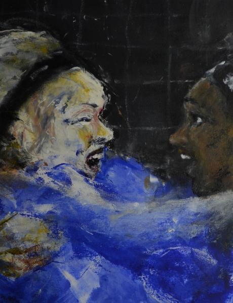 Målglädje, monotypi, 2010