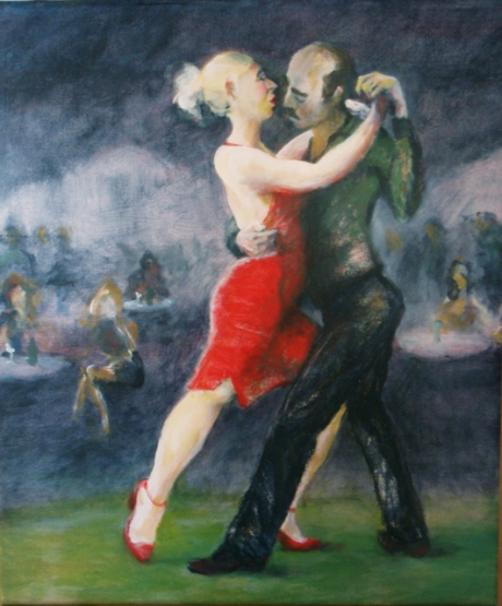 Tango, akryl, 2010, såld