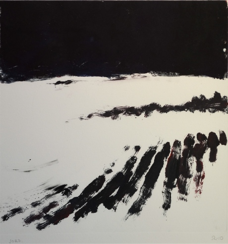 Jord, monotypi, 2010, privat ägo