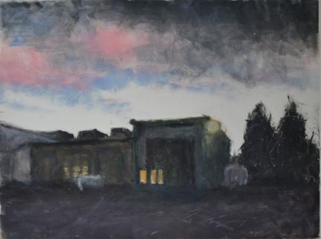 Garage i Barhäll, monotypi, 2011, privat ägo