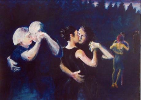 Sommarnatt, akryl, 2011, privat ägo
