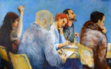 Lektionen, akryl, 2012