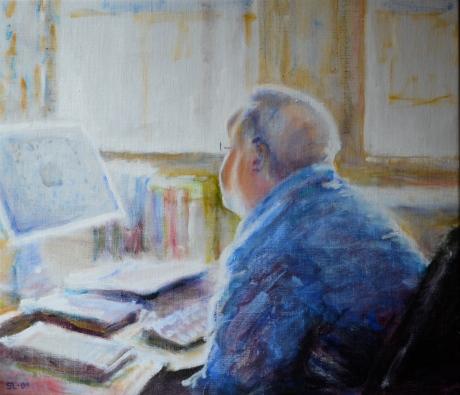 Studierektorn, akryl, 2009, såld