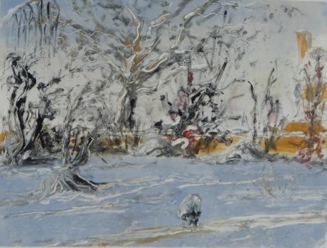 Trädgårdshuset, monotypi, 2011, såld