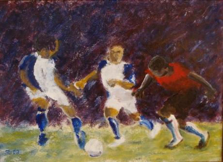 Fotboll, akryl, 2008