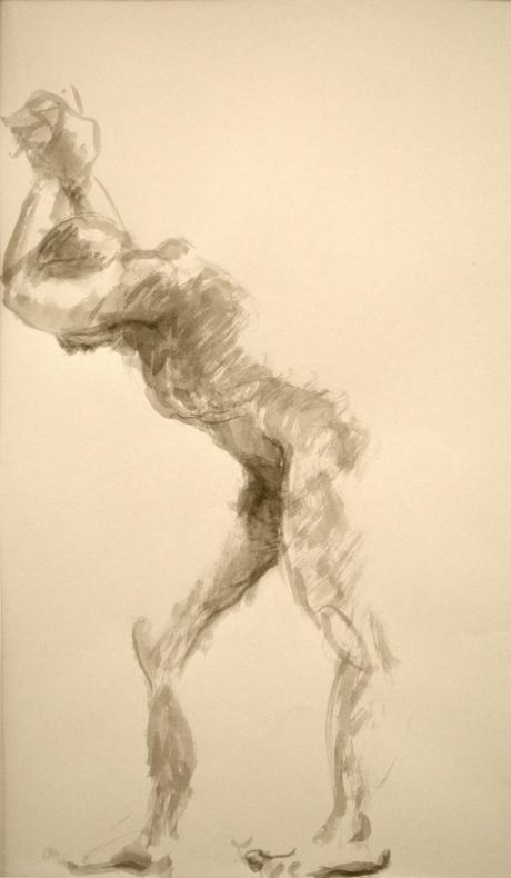 Ta stöd, kroki, tusch, 2011, såld