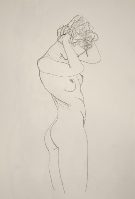 Vridning, kroki, blyerts, 2010