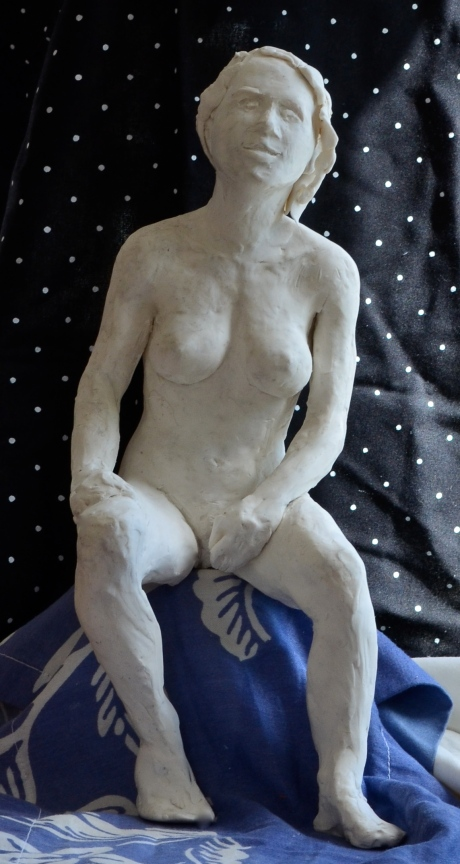 Självsäker, skulptur, plastelina, 2013