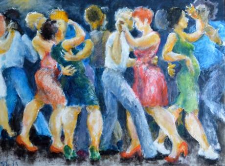 Dansen, 2013, akryl, såld