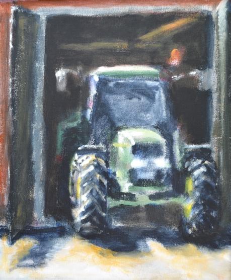 Traktorn, 2013, akryl