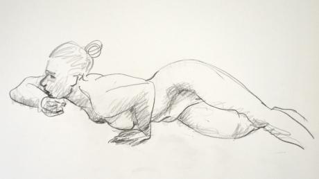 Spaning, kroki, blyerts, 2014