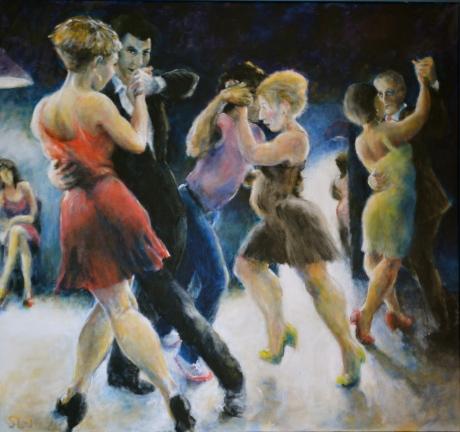 Danslust, akryl, 2014