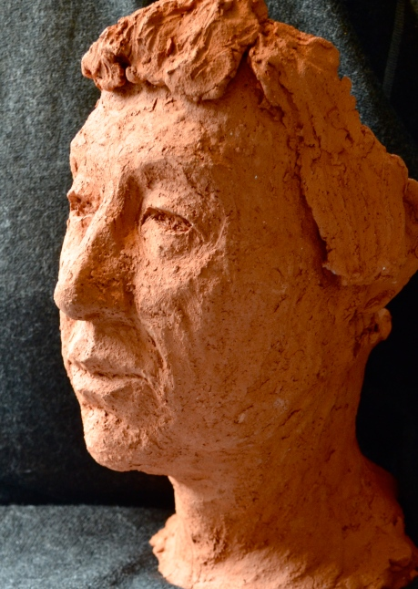 helena, skulptur, bränd chamottlera, 2014