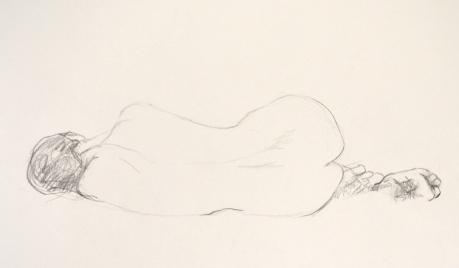 Rygg, kroki, blyerts, 2014
