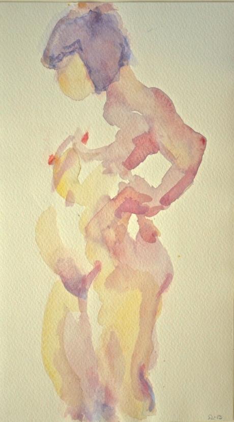 Upplyst, kroki, akvarell, 2013