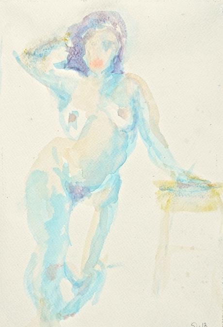 Elegans, kroki, akvarell, 2013