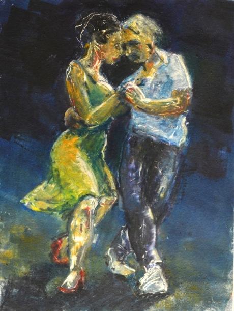Tango - lektionen, monotypi, 2015